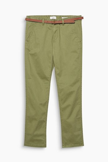 EDC BY ESPRIT Twill-Chino aus Baumwoll-Stretch