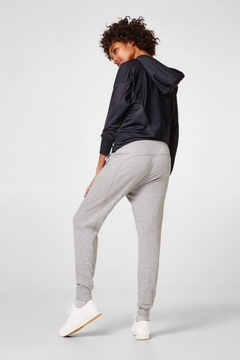 ESPRIT Melierte Sweat-Pants aus Baumwoll-Mix