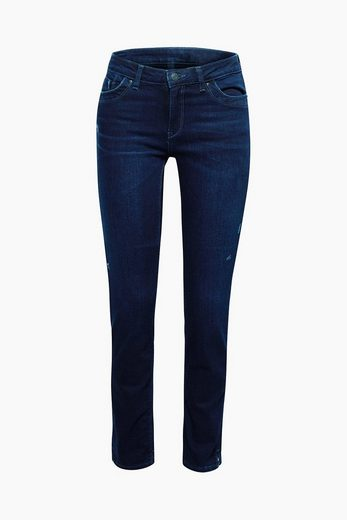 ESPRIT Stretch-Jeans mit Saumzippern