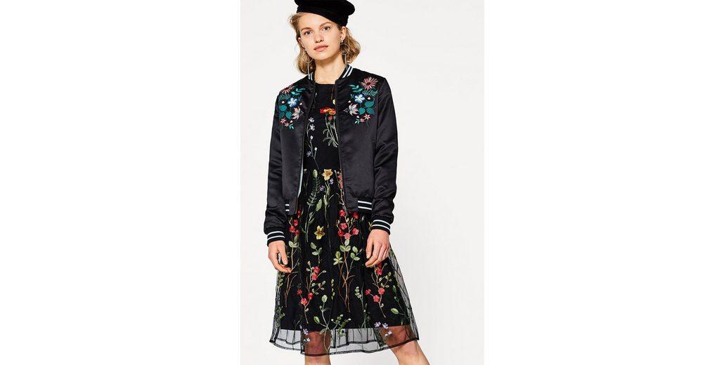 Niedrige Versandgebühr Günstiger Preis ESPRIT Feminines Mesh-Kleid mit Blumen-Stickerei Strapazierfähiges Modisch Spielraum 2018 Rabatt Niedrig Kosten 6YJ8DKG