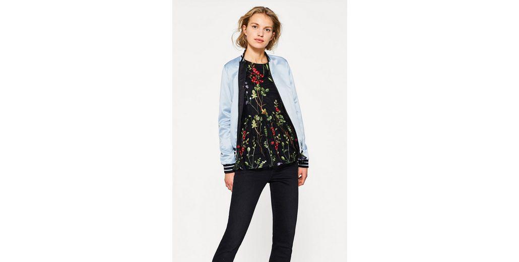 ESPRIT Mesh-Bluse mit bunter Blumen-Stickerei Perfekt Billigste Zum Verkauf Billige Offizielle Seite Billig Besuch h3CRhZPB
