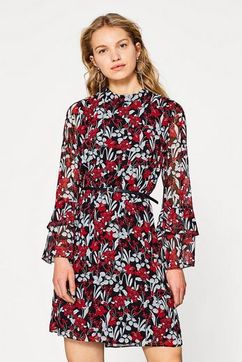 Esprit Collection Floral Chiffon Dress With Trumpet Sleeves