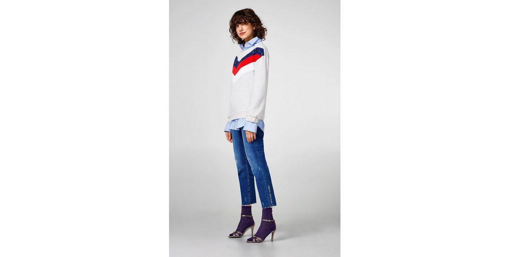 ESPRIT Sweatshirt mit Pailletten, aus Baumwolle