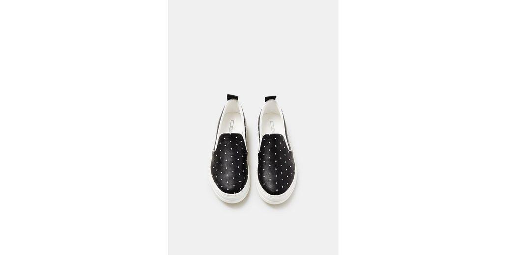 ESPRIT Slip On-Sneaker mit Minimal-Print Steckdose Billigsten Bilder Günstig Online iZmXmXgkM