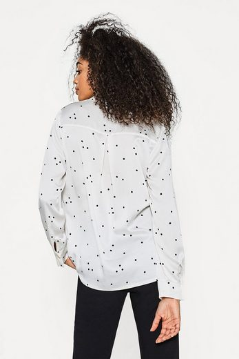 Esprit Collection Structured Satin Blouse With Polka Dots