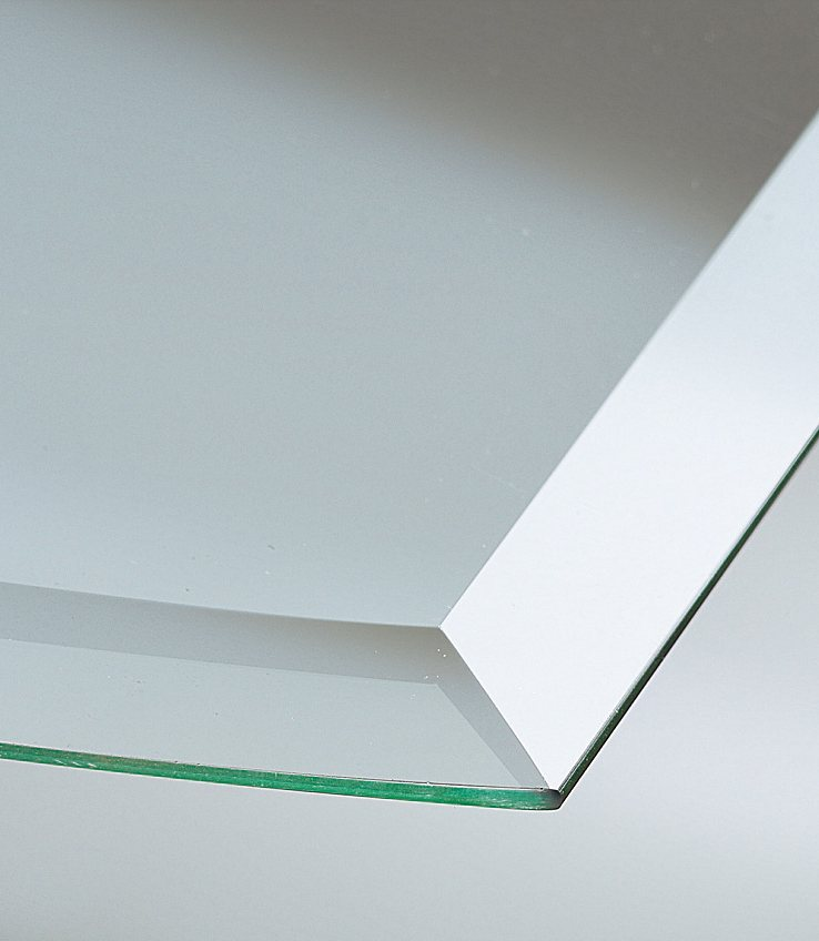 Glasbodenplatte »Segmentbogen«, 100x100 cm, bronzefarben, zum Funkenschutz in weiß