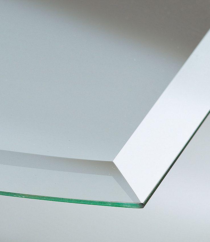 Glasbodenplatte »Segmentbogen«, 100x100 cm, bronzefarben, zum Funkenschutz