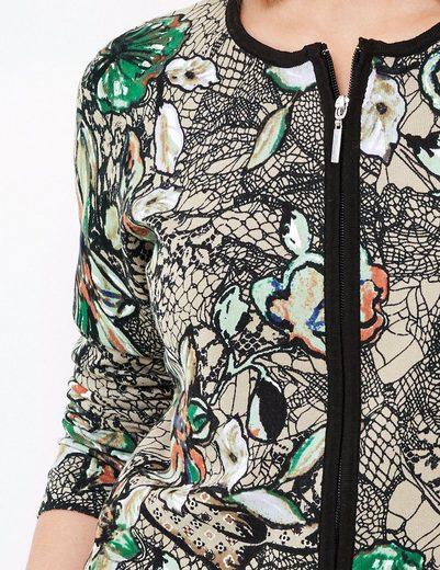 Gerry Weber Jacke Strick Strickjacke mit farbenfrohem Muster