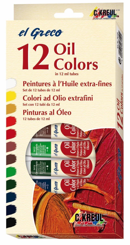 "Kreul Ölfarben-Set ""el Greco Oil"" 12 x 12 ml"