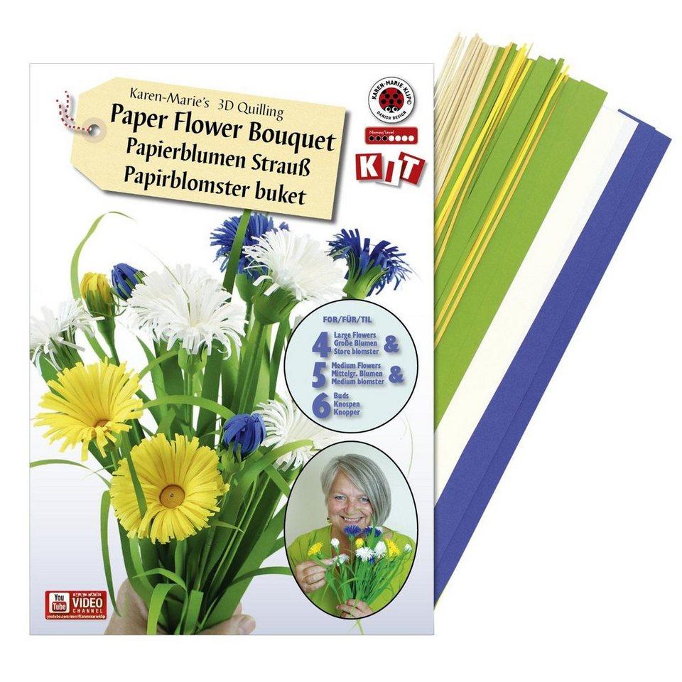 """Karen Marie Klip Quilling-Set """"Paper Flower Bouquet"""" für 15 Blumen online kaufen"""