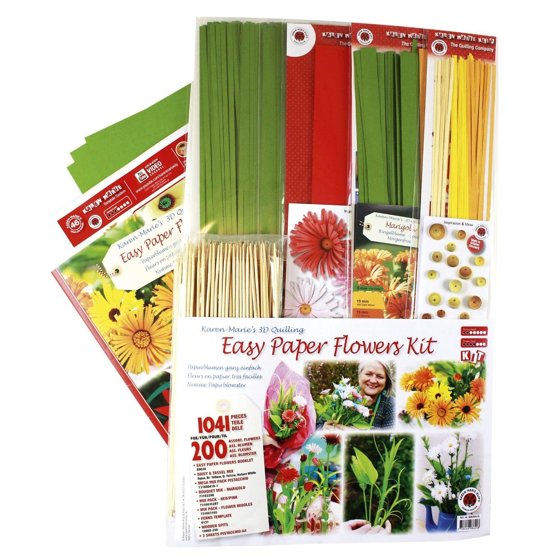 "Karen Marie Klip Mega-Quilling-Set ""Easy Paper Flowers"""
