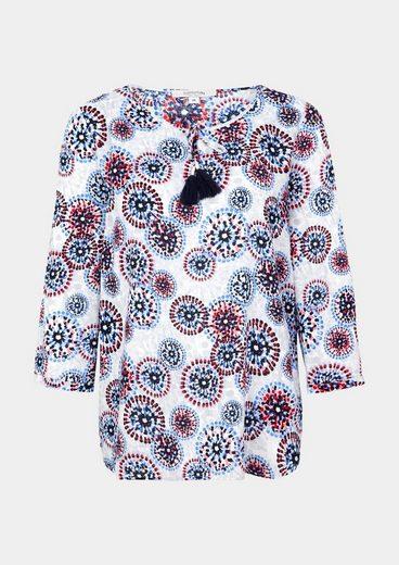 COMMA Blusenshirt mit farbenprächtigem Musterprint