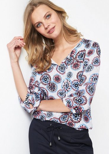 Comma Blouses Shirt With Colorful Pattern Print