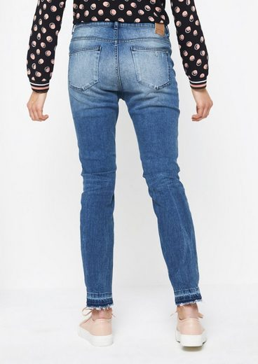 COMMA Legere Jeans im Used-Look