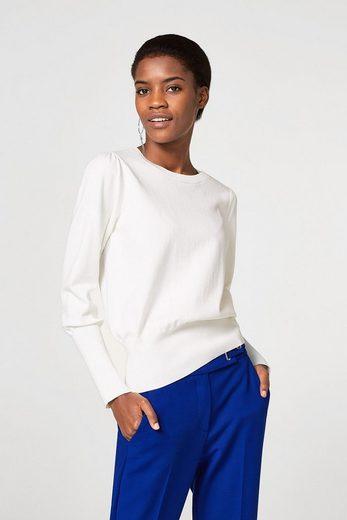 ESPRIT Feinstrick-Pullover mit breiten Bündchen
