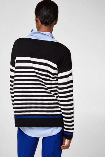 ESPRIT Pullover mit texturierten Streifen