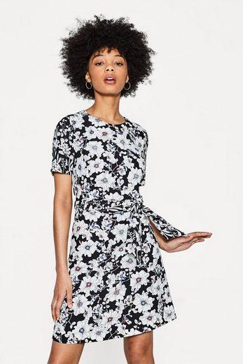 ESPRIT COLLECTION Strukturiertes Crêpe-Kleid mit Blumen-Print