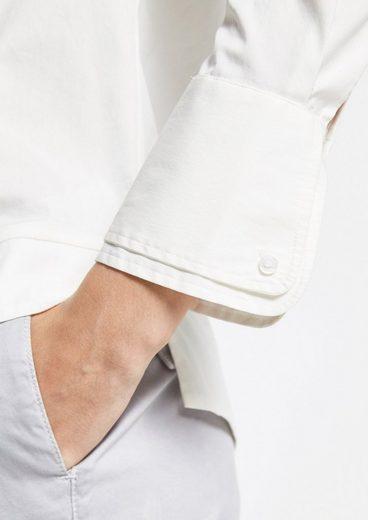 COMMA Klassische Hemdbluse mit raffinierten Details