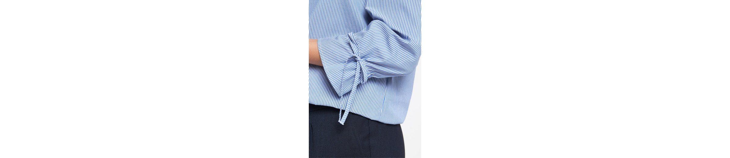 COMMA Schulterfreie Bluse mit Längsstreifenmuster Bequem Online MuW3Jl8VC0