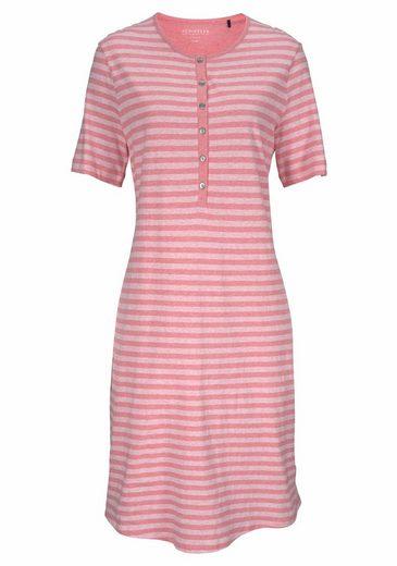 Schiesser Nachthemd mit Streifen in Pastelltönen