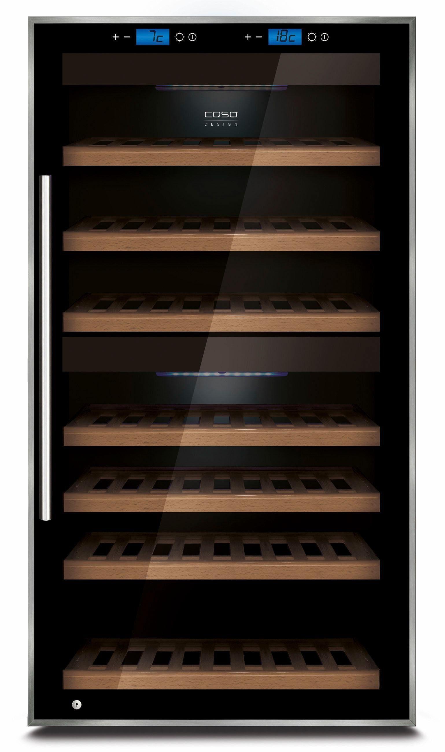 Caso Weinkühlschrank Caso WineComfort Touch 66, für 66 Standardflaschen á 0,75l