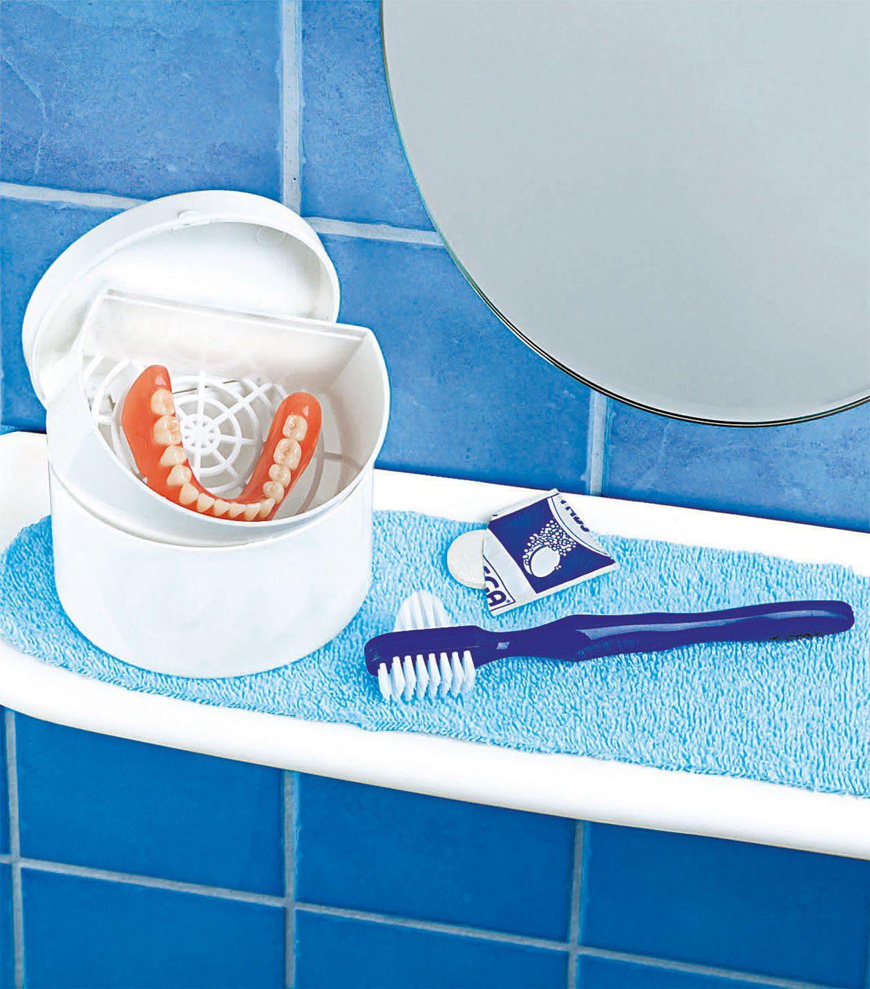Wenko Prothesen-Reinigungsset mit herausnehmbarem Einsatz