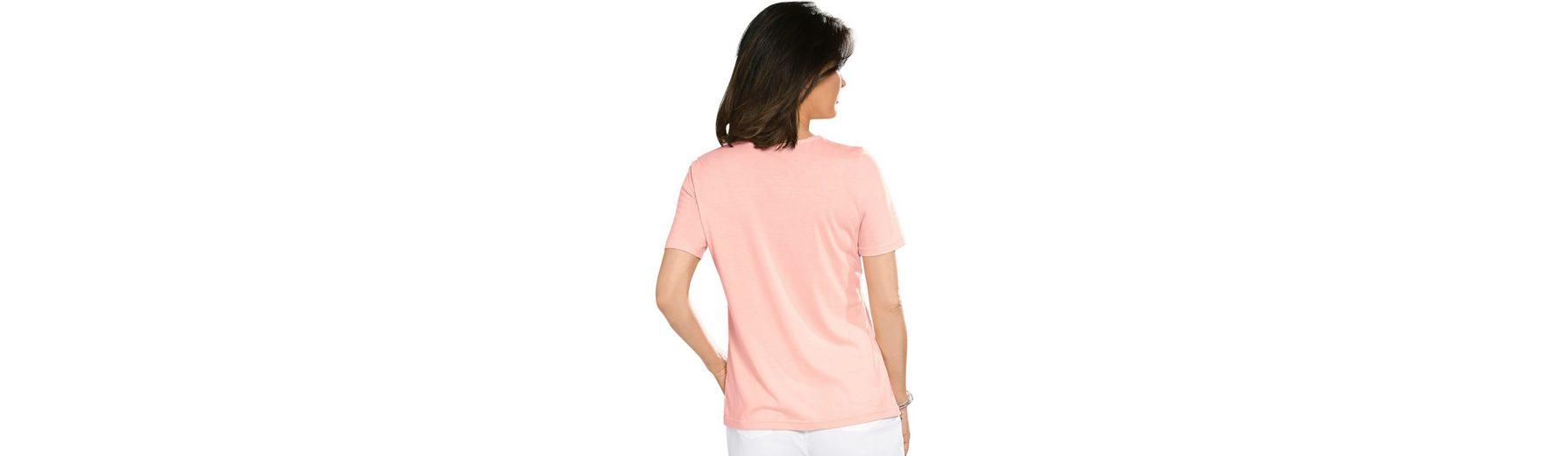 Shirt mit Stickerei und Glitzersteinchen Verkauf Der Billigsten Günstig Kaufen Günstigsten Preis Outlet Kollektionen Freies Verschiffen Großer Verkauf s4R2lYac