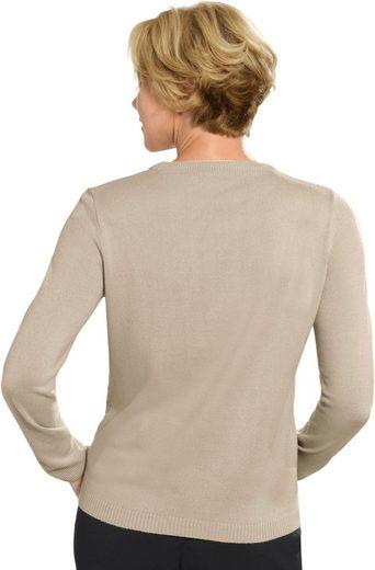 Pullover mit dezentem Ajourmuster vorne