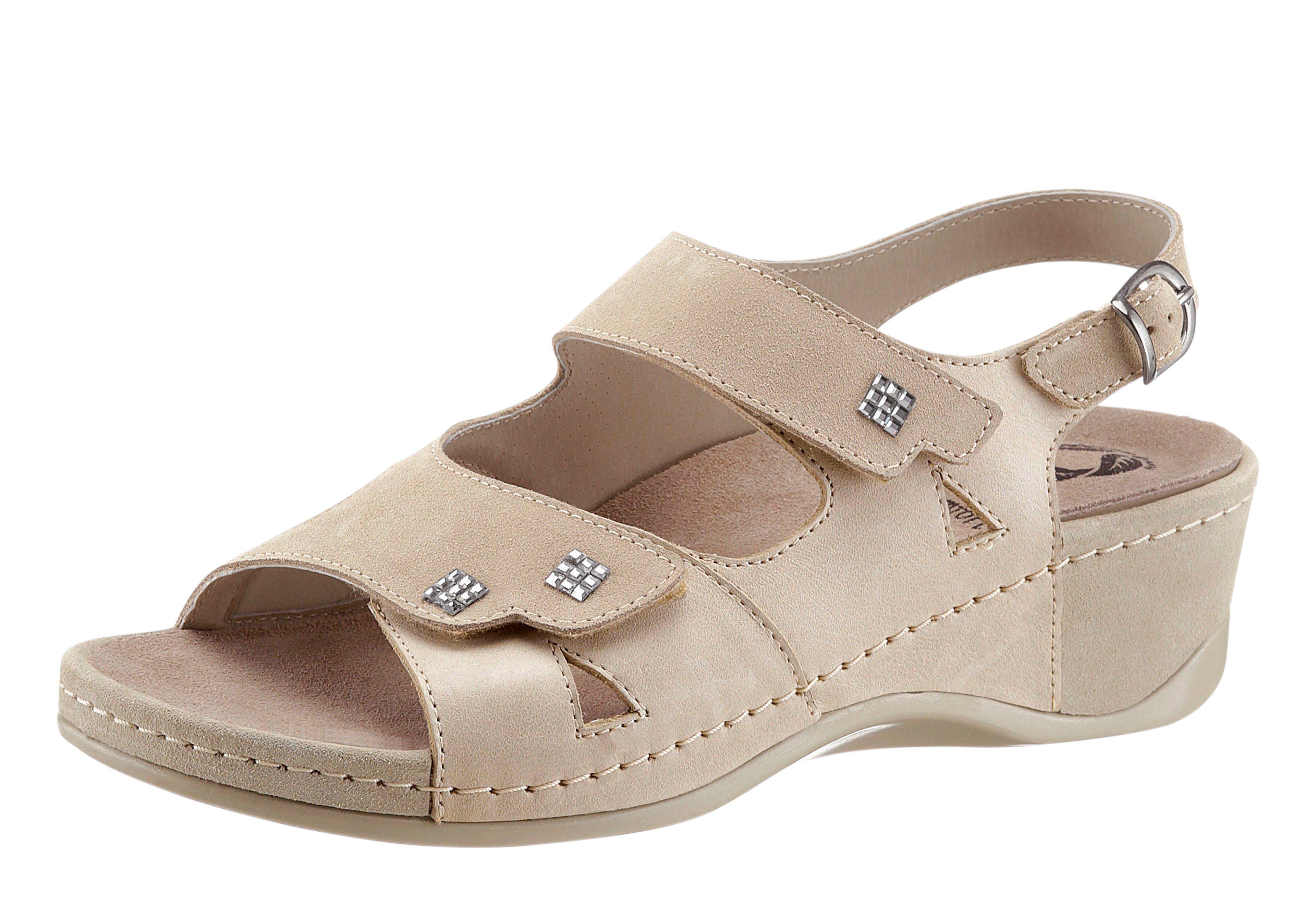 Mubb Sandalette mit rutschhemmender PU-Laufsohle  beige