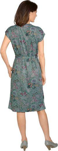 Classic Basics Jersey-Kleid mit gerafften Ausschnitt