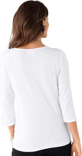 Lady Shirt mit blickdicht unterlegter, feiner Spitze im Vorderteil