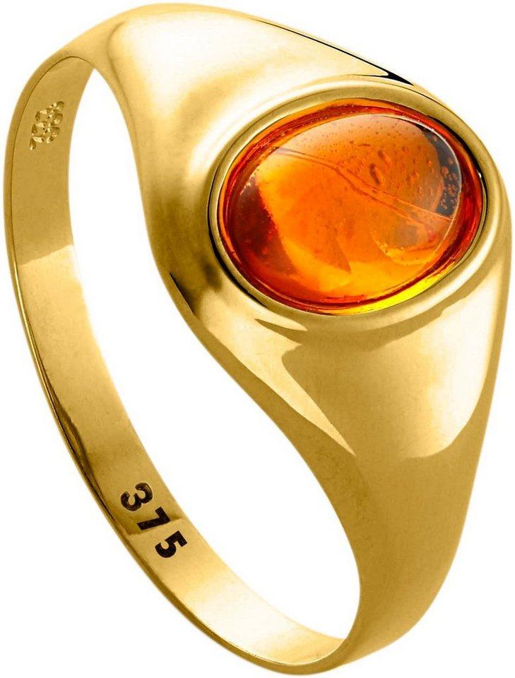 lady ring mit ovalem bernstein 375er gelbgold online. Black Bedroom Furniture Sets. Home Design Ideas