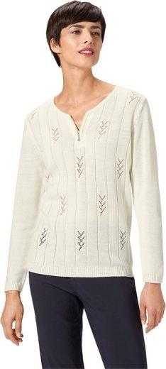 Pullover mit aufwändig gestaltetem Muster im Vorderteil
