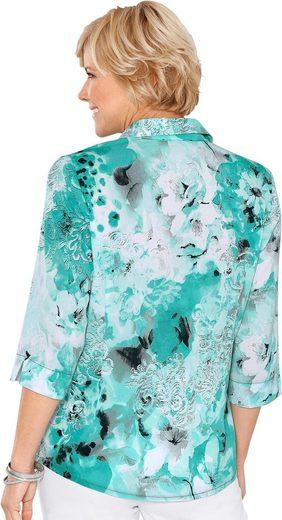 Bluse in vorteilhaft kaschierender Länge