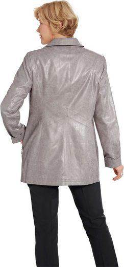 Jacke in geprägter Leder-Optik