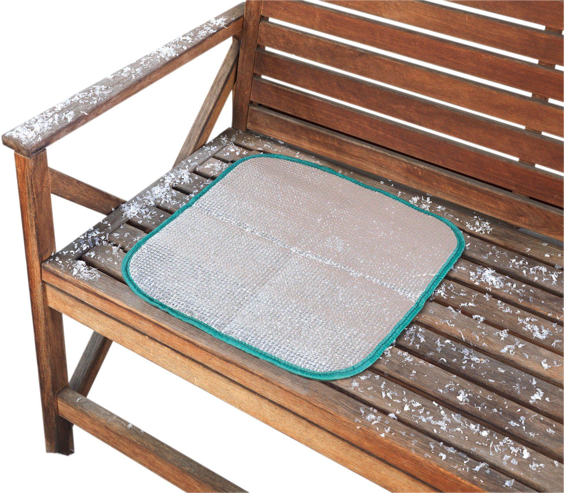 Thermo-Sitzkissen bietet Schutz vor Nässe und Kälte