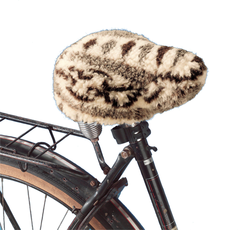 Fahrradsattel-Bezug aus reiner Schafschurwolle im Flor