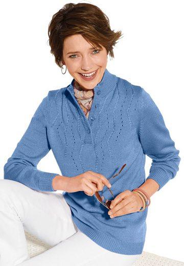 Pullover mit ansprechendem Ajourmuster