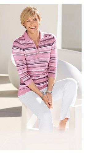 Damen Collection L. Pullover mit Polokragen rosa | 08859191066430
