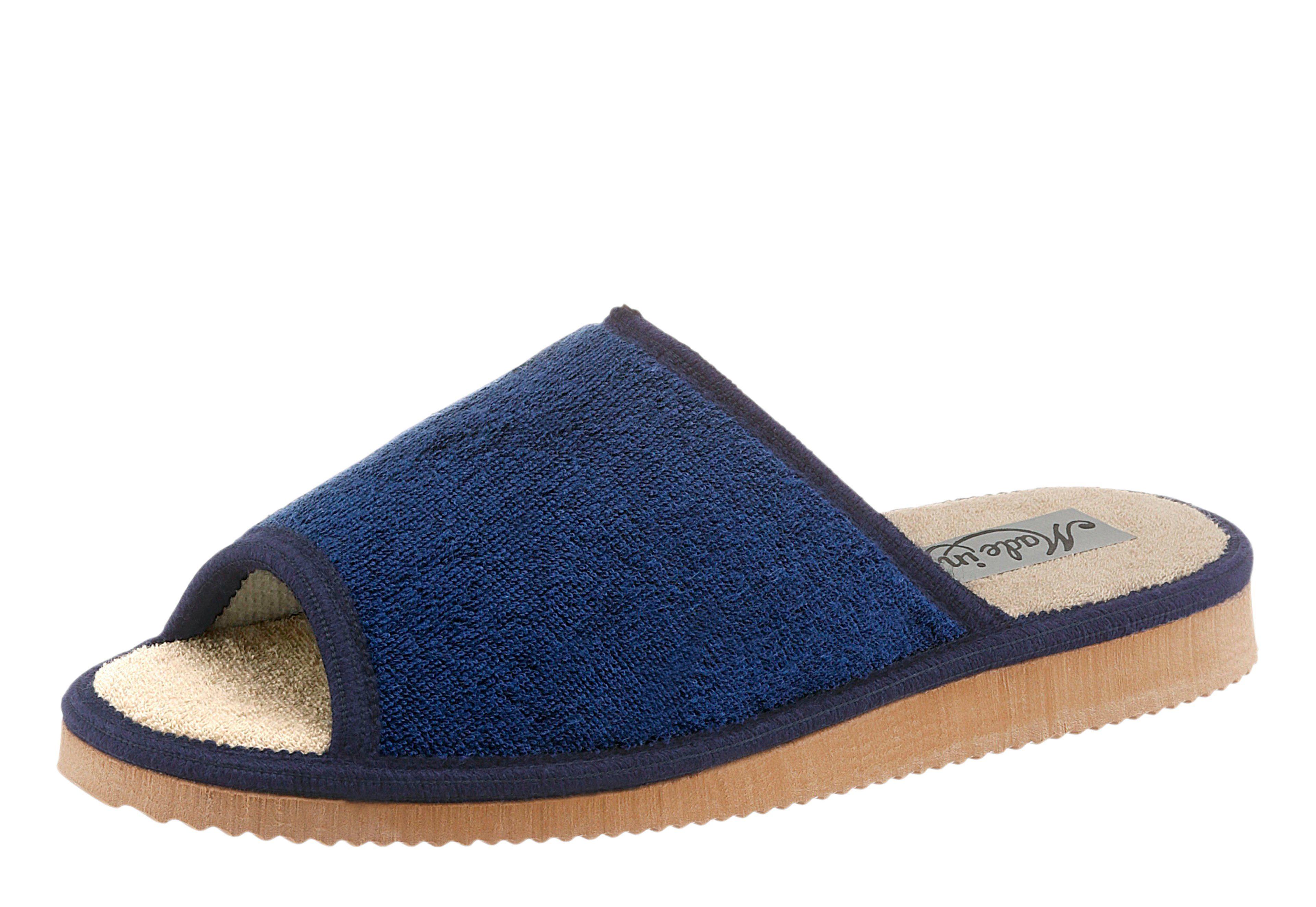 Classic Pantoffel mit rutschhemmender EVA-Laufsohle, blau, blau + marine
