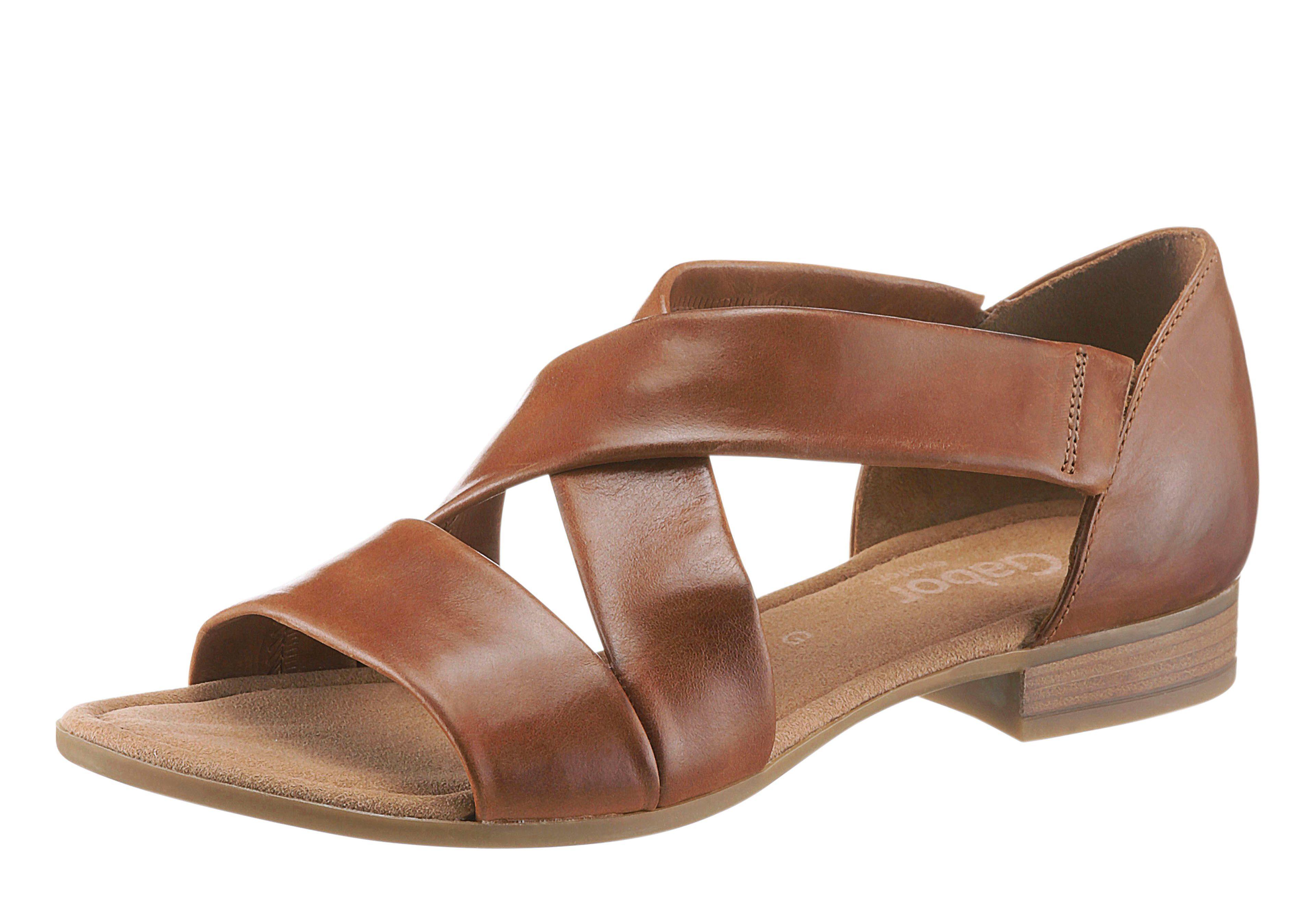 Gabor Sandale mit rutschhemmender PU-Laufsohle  braun