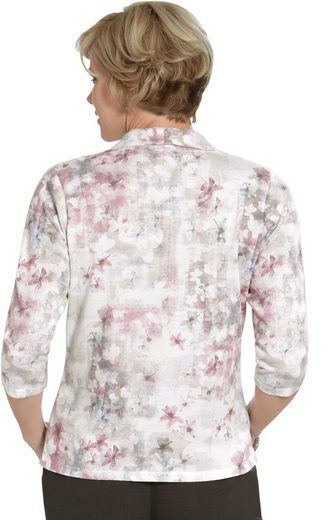 Pullover in floral bedruckter Feinstrick-Qualität