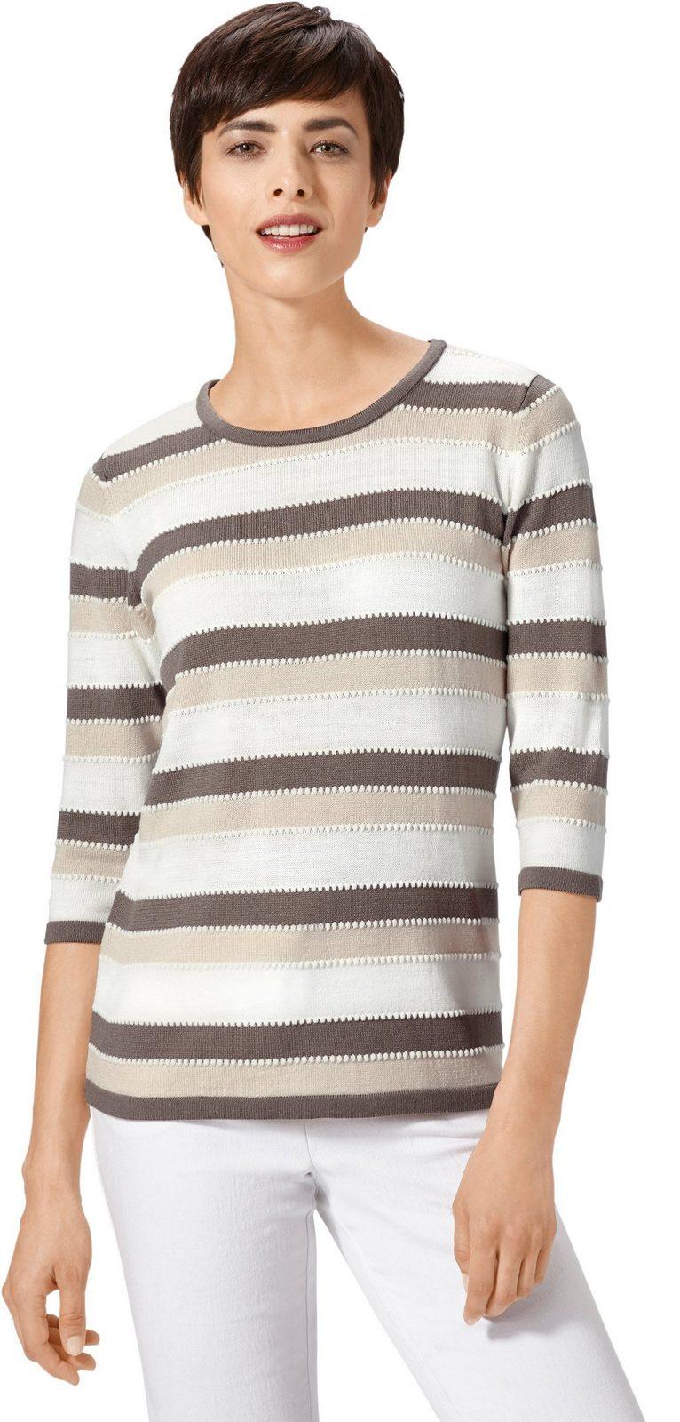 Pullover im schön gestaltetem Streifendessin