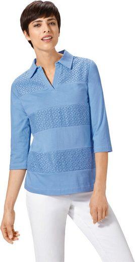 Shirt mit Spitzeneinsätze im Vorderteil