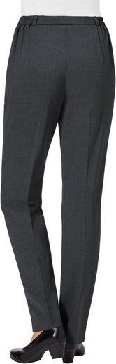 Hose im hochwertigen Materialmix mit Schurwolle