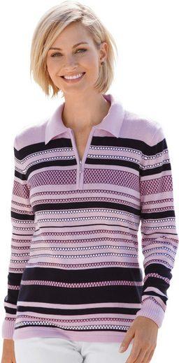 Collection L. Pullover mit elastischen Bündchen an den Ärmeln