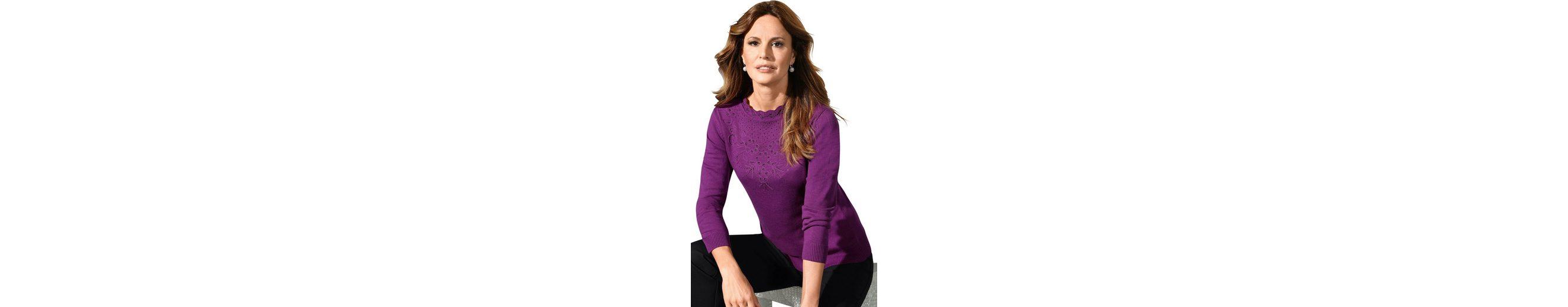 Lady Pullover mit kleinen Glitzersteinchen am Ausschnitt Freies Verschiffen Klassische Zu Verkaufen 2018 Neue Billig Kaufen Authentisch Billig Verkauf Rabatte dMGfA1g
