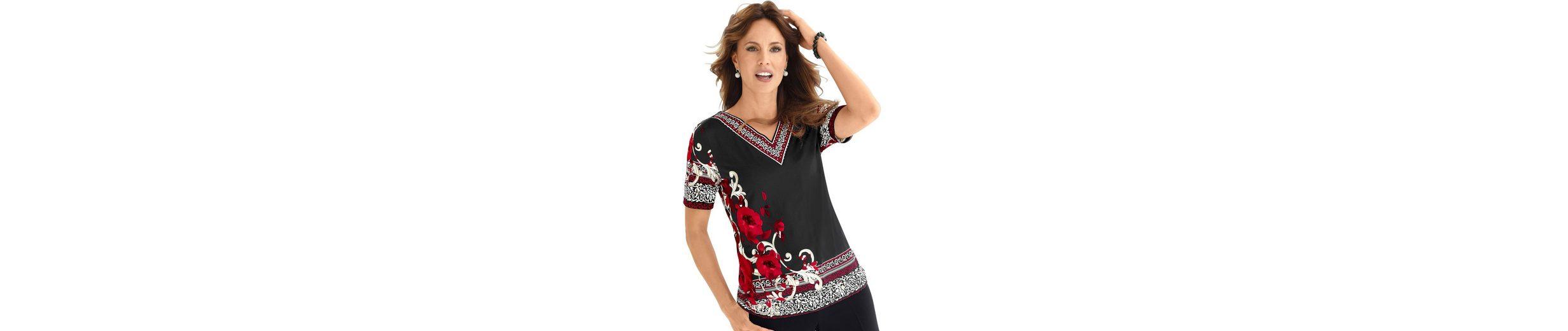 Lady Shirt mit Blütenranken bedruckt Steckdose Mit Paypal Um ieVsVZgy