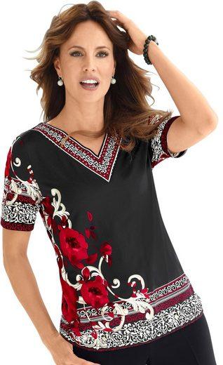 Lady Shirt mit Blütenranken bedruckt