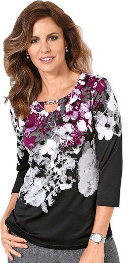 Lady Shirt mit edlen Kettengliedern am Ausschnitt